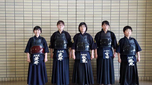 道連県大会中学生の部出場メンバー
