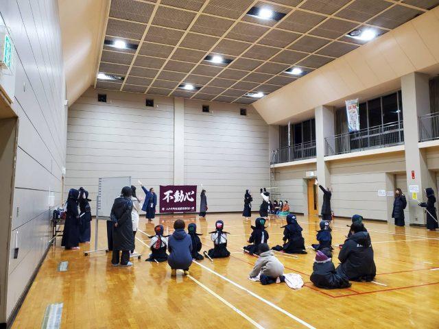 2/15の稽古風景(部内試合)